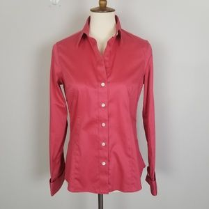Banana Republic Red Cotton Non-Iron Shirt Size 6